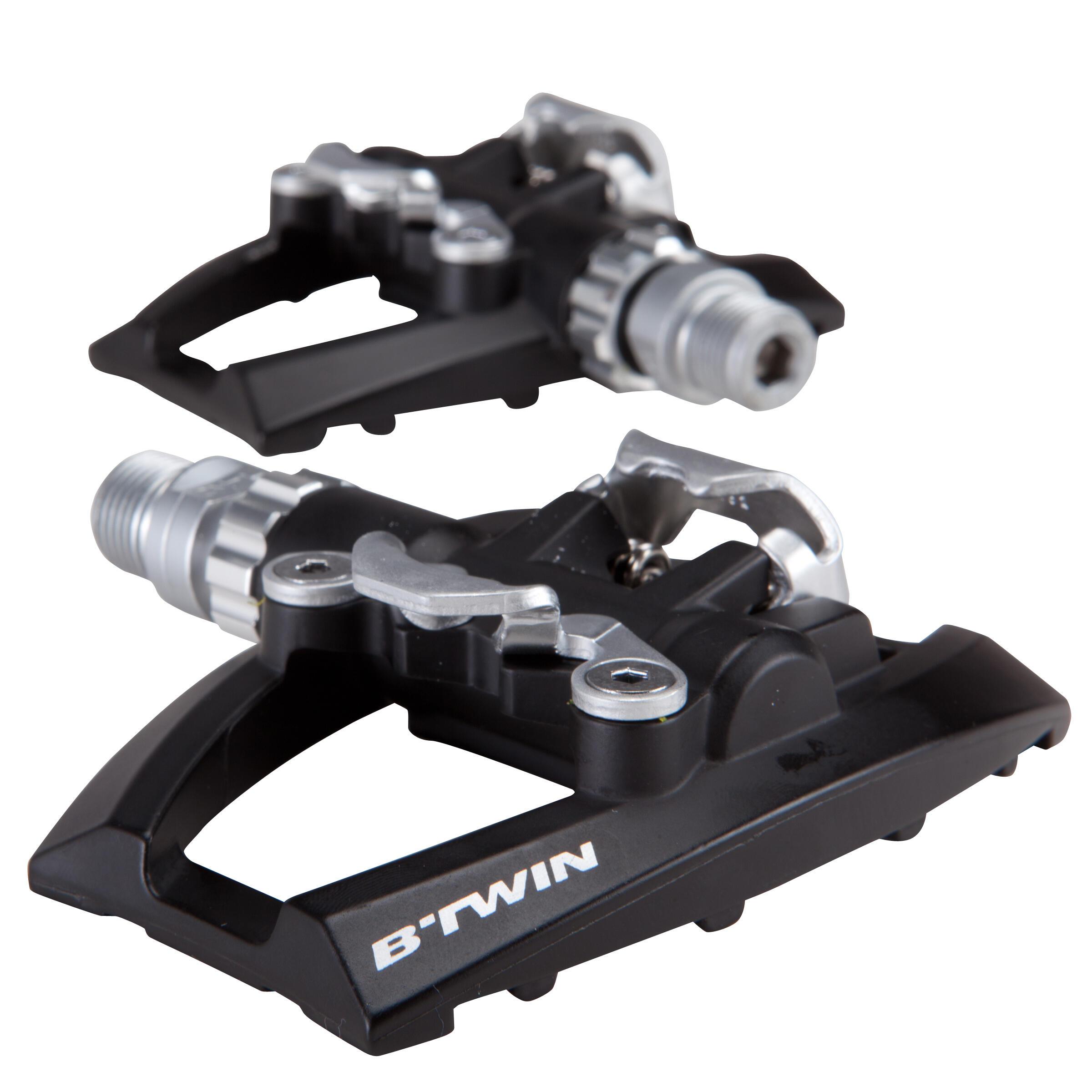 B'twin   fietsen   pedaal   semi automatische racepedalen 500 compatibel met spd. ontworpen voor: ...