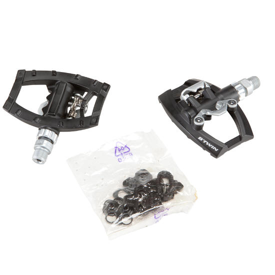 500 Dual Platform Road Pedals Spd Compatible Road Bike Pedals