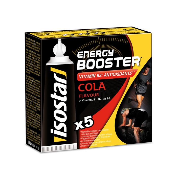 Gel Energético Triatlón Isostar Energy Booster Cola 5 X 20 G