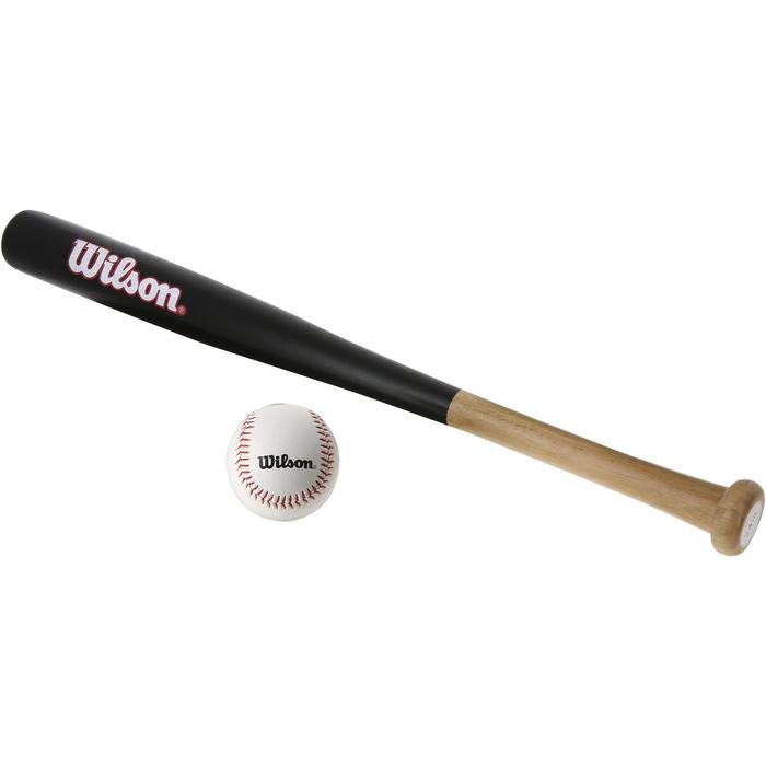 Honkbalset met houten knuppel 24 inch en bal voor kinderen