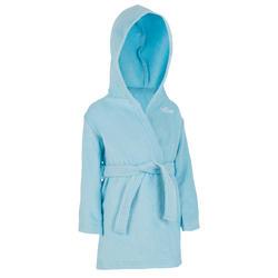 Katoenen badjas voor peuters, met kap en strikceintuur