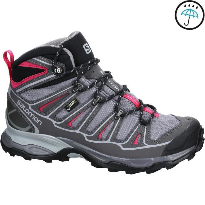 Chaussure de randonnée montagne Femme Salomon X Ultra Mid GTX Gris rose - 1153647