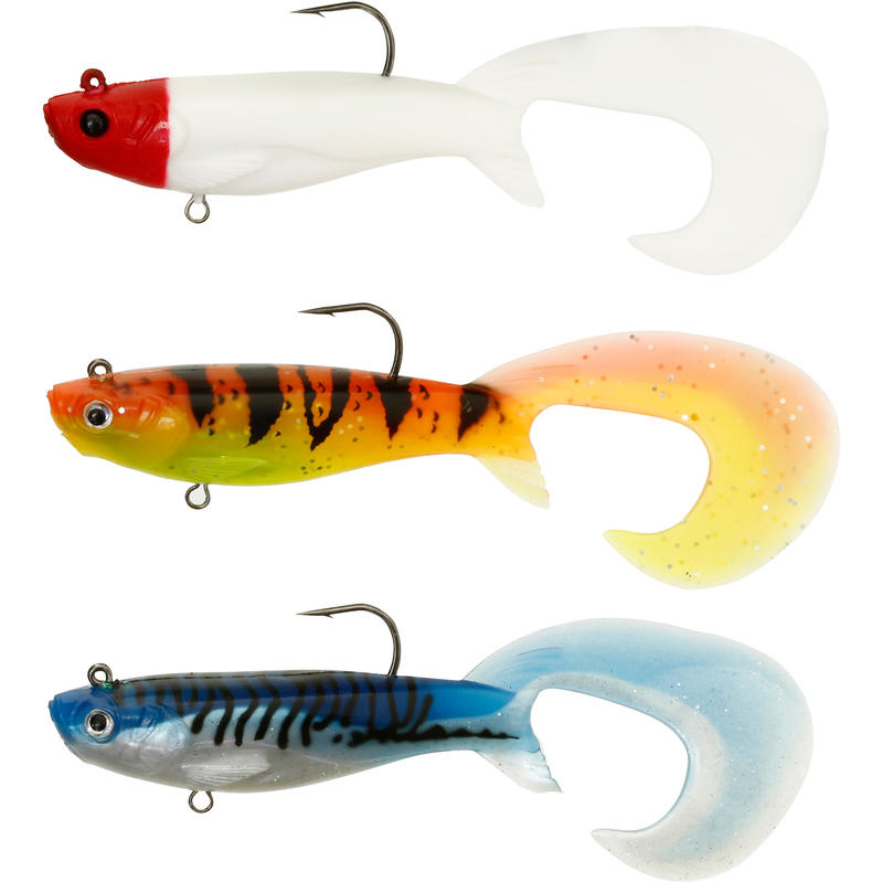 DUDDON 120 MULTICOLOUR 1 SOFT LURE FISHING KIT