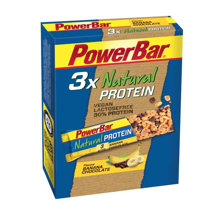 Eiwitreep Natural Protein chocolade/banaan 3x40g