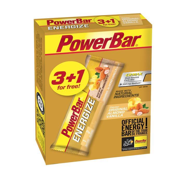 Barre énergétique ENERGIZE vanille amande 3x55g +1 FREE - 1153851