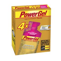 Gel Energético Triatlón Power Gel Fresa Plátano 4 x 41 G