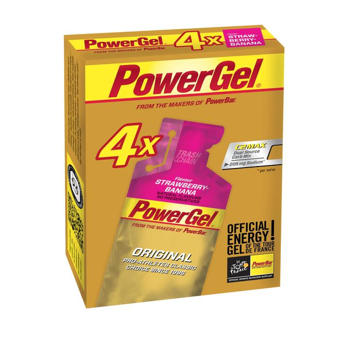 Gel énergétique POWER GEL fraise banane 4x41g - 1153852