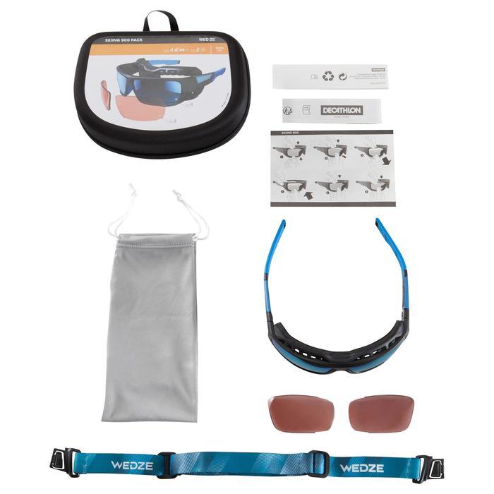 Lunettes de randonnée adulte MH 910 noires/bleues verres interchangeables cat4+2 - 1153923