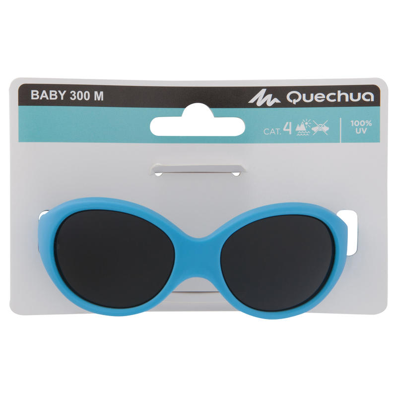 Lentes de sol de senderismo bebé 6 - 24 meses MH B 500 azul categoría 4