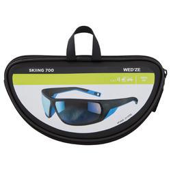 Skibrillen volwassenen Skiing 700 zwart & blauw categorie 4 - 1153947