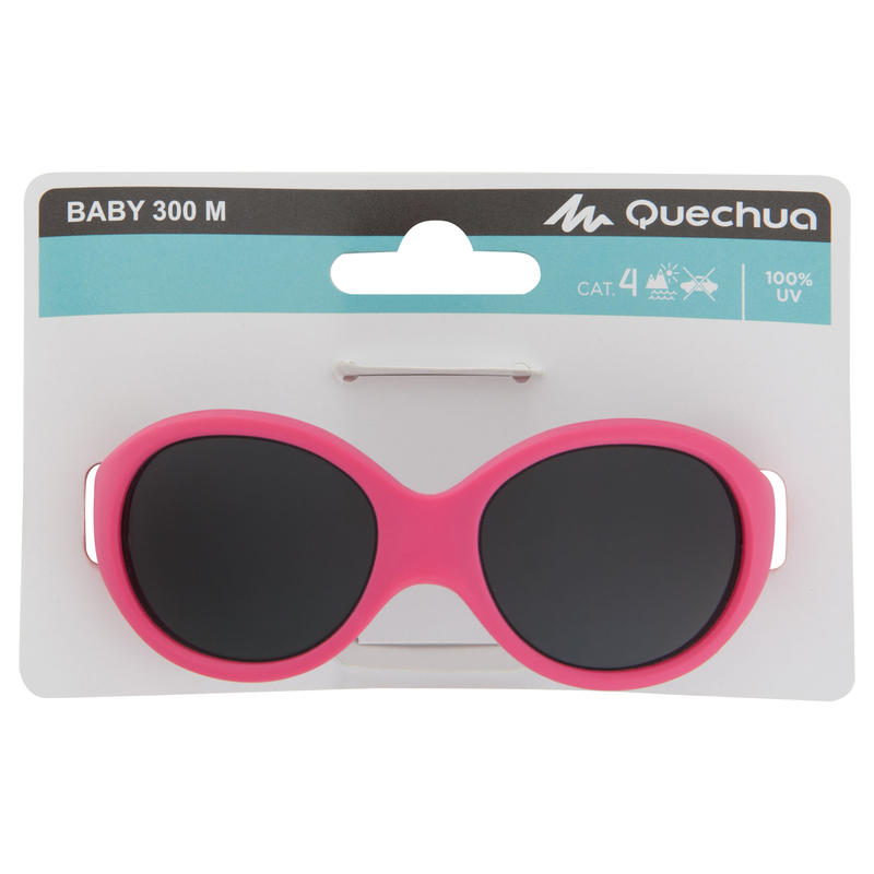 Baby 300 Baby Hiking Ski Sunglasses Ages 6-24 Months Category 4 - Pink