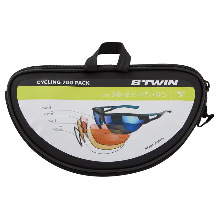 XC 100 Blue Pack Adult Cycling Sunglasses - 4 Interchangeable Lenses - Blue - 1153973