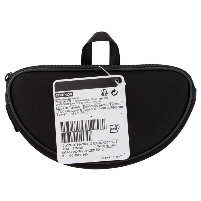 Gafas de senderismo adulto MH 570 grises y negras polarizadas de categoría 3