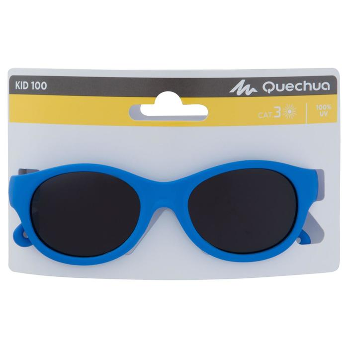 Lunettes de soleil randonnée enfant 2-4 ans MH K 100 bleues catégorie 3 - 1153985