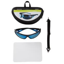 Skibrillen volwassenen Skiing 700 zwart & blauw categorie 4 - 1153997