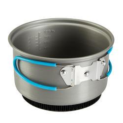 Tweepersoons kookpan voor trekking uit aluminium (1,2 liter) - 115402