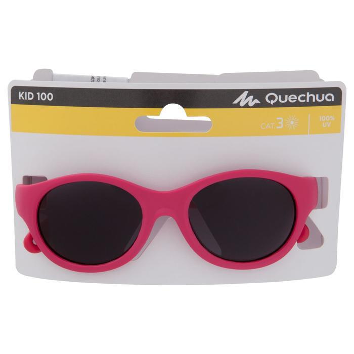 Zonnebril trekking voor kinderen 2-4 jaar MH K 100 roze categorie 3