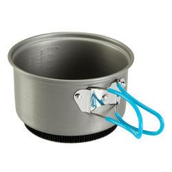 Tweepersoons kookpan voor trekking uit aluminium (1,2 liter) - 115404