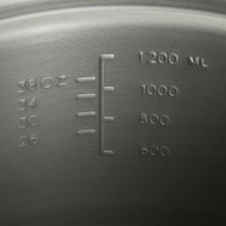 Tweepersoons kookpan voor trekking uit aluminium (1,2 liter) - 115407
