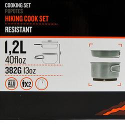 Tweepersoons kookpan voor trekking uit aluminium (1,2 liter) - 115420