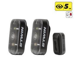 Set fietslampjes voor-/achter Vioo Clip 300 USB