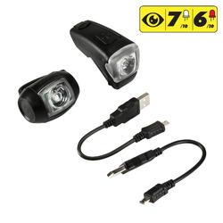 Fietslamp VIOO 300 USB zwart - 1154450