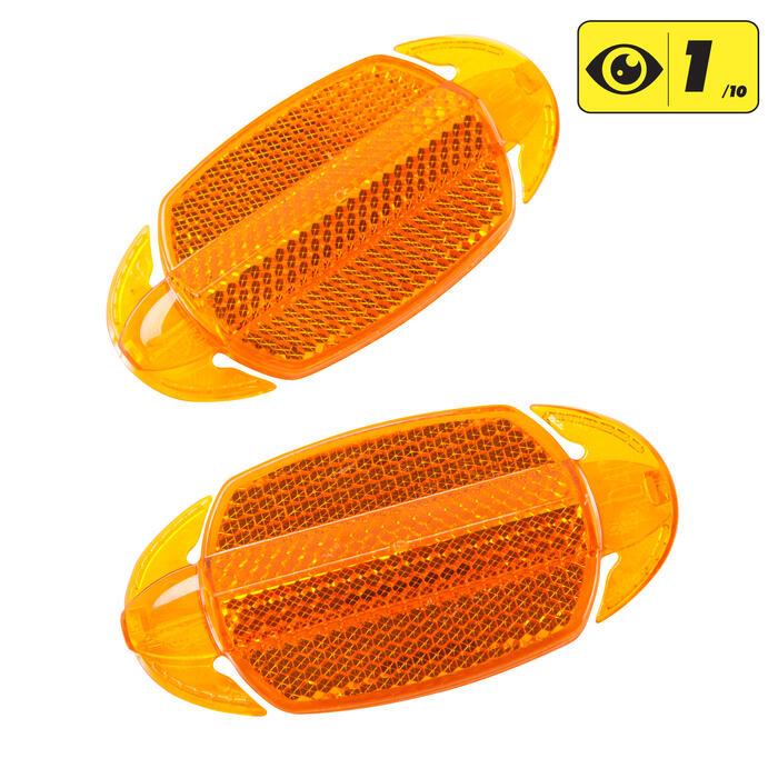 Oranje wielreflectoren