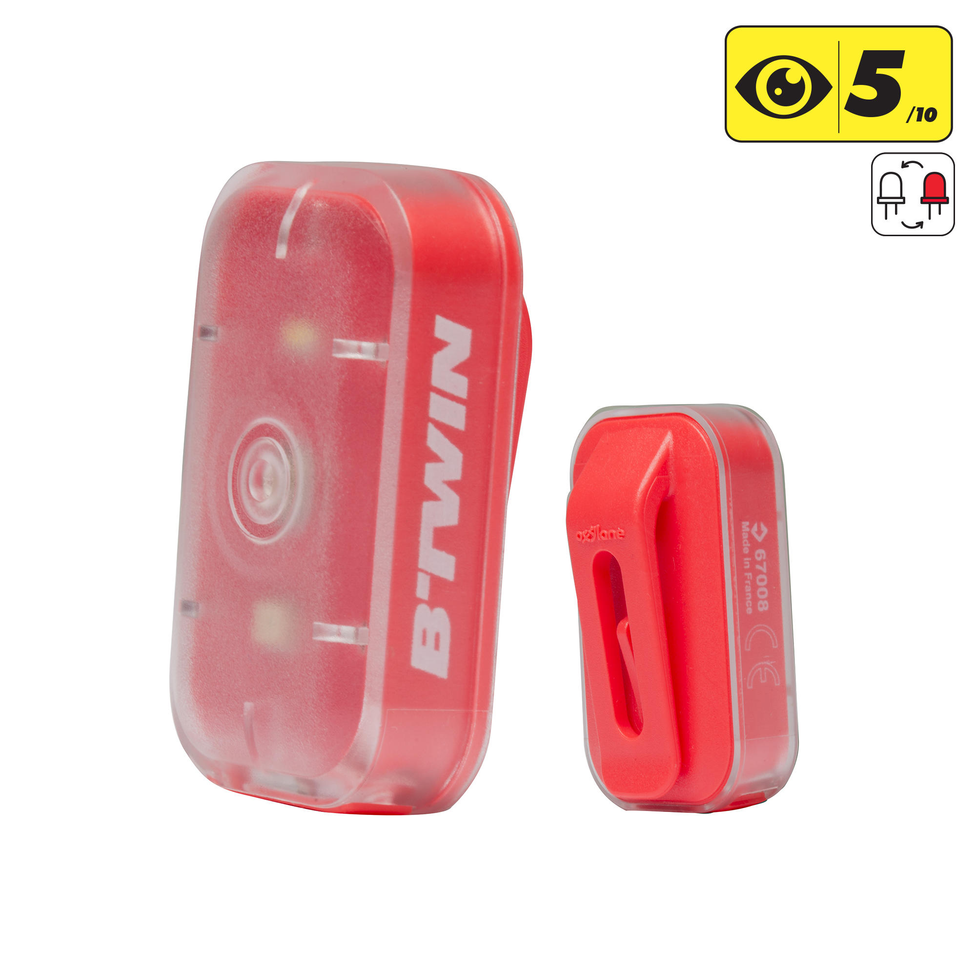 Vioo Clip 500 Bike Light - Pink