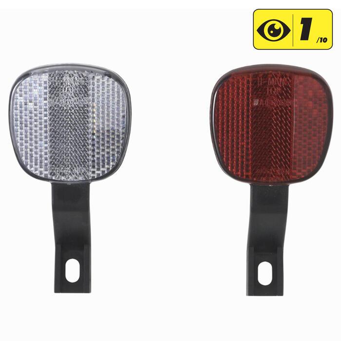 Reflectoren voor fietsframe voor/achter
