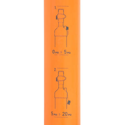 POMPE A MAIN STAND UP PADDLE HAUTE PRESSION 20 PSI DOUBLE ACTION ORANGE