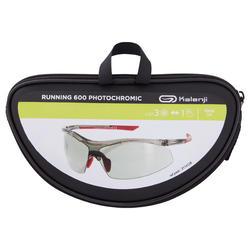Hardloopbril voor volwassenen Running 600 rood/grijs meekleurend cat. 1 tot 3 - 1154596