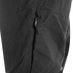 女款登山健行長褲 TREK 100-黑色