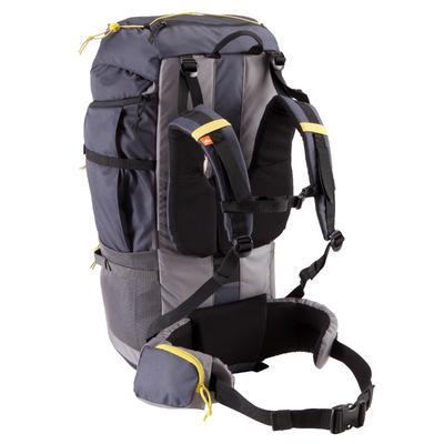 Morral de excursionismo para varios días adulto Forclaz 70L gris oscuro
