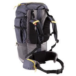 sac à dos trekking forclaz 70 litres gris