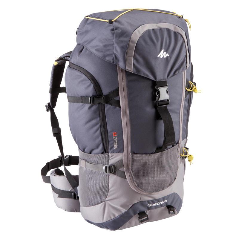 Forclaz 70-Litre Travel Backpack - Grey d41b338dff8ac
