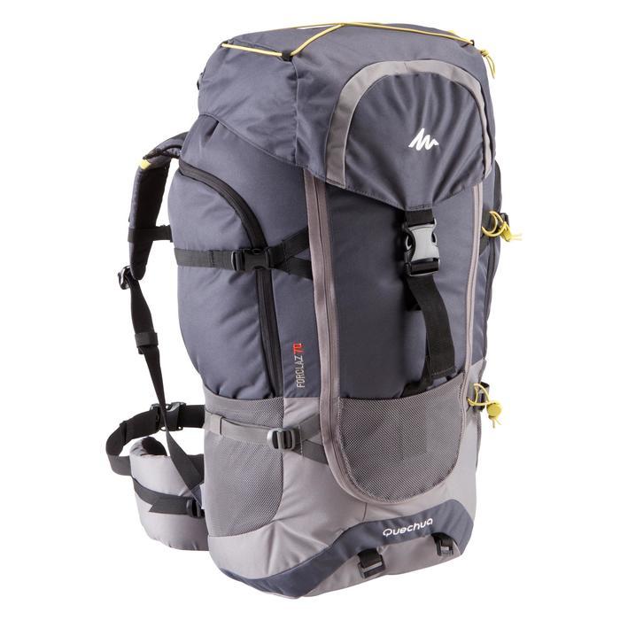 Sac à dos Trekking forclaz 70 litres gris foncé - 115466