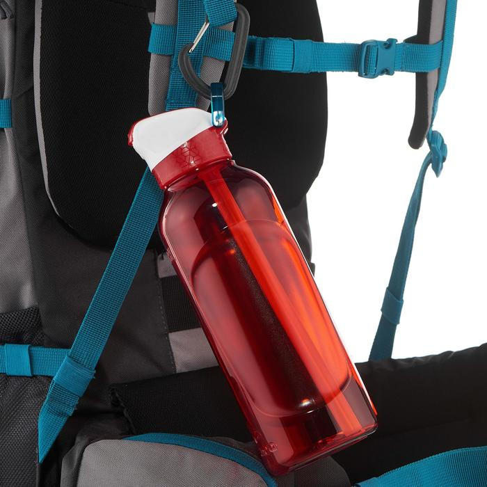 Gourde randonnée 900 bouchon instantané avec pipette 0,8 litre Tritan rouge