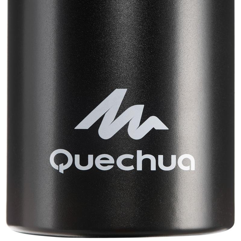 Cantimplora de senderismo 500 tapón apertura rápida 1,5 litro aluminio negro
