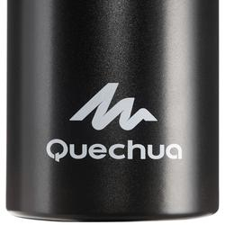 Drinkfles 500 voor wandelen sportdop 1,5 liter aluminium zwart
