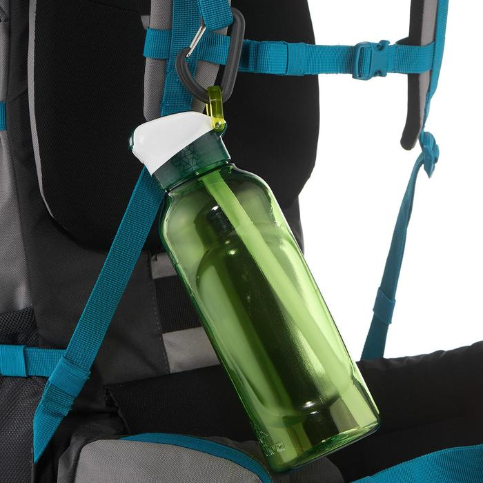 Hiking Water Bottle Instant Stopper with Straw 900 Tritan 0.8 Litre - Green