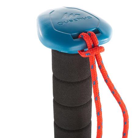 Bastón de Senderismo y Trekking, Forclaz A100, Ergonómico, 1 Unidad, Azul