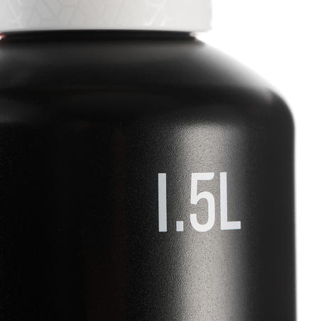 Фляга 500 для хайкінгу, алюмінієва з кришкою миттєвого відкривання 1,5 л - Чорна