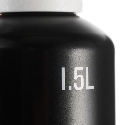 Gourde randonnée 500 bouchon ouverture rapide 1,5 litre aluminium noir