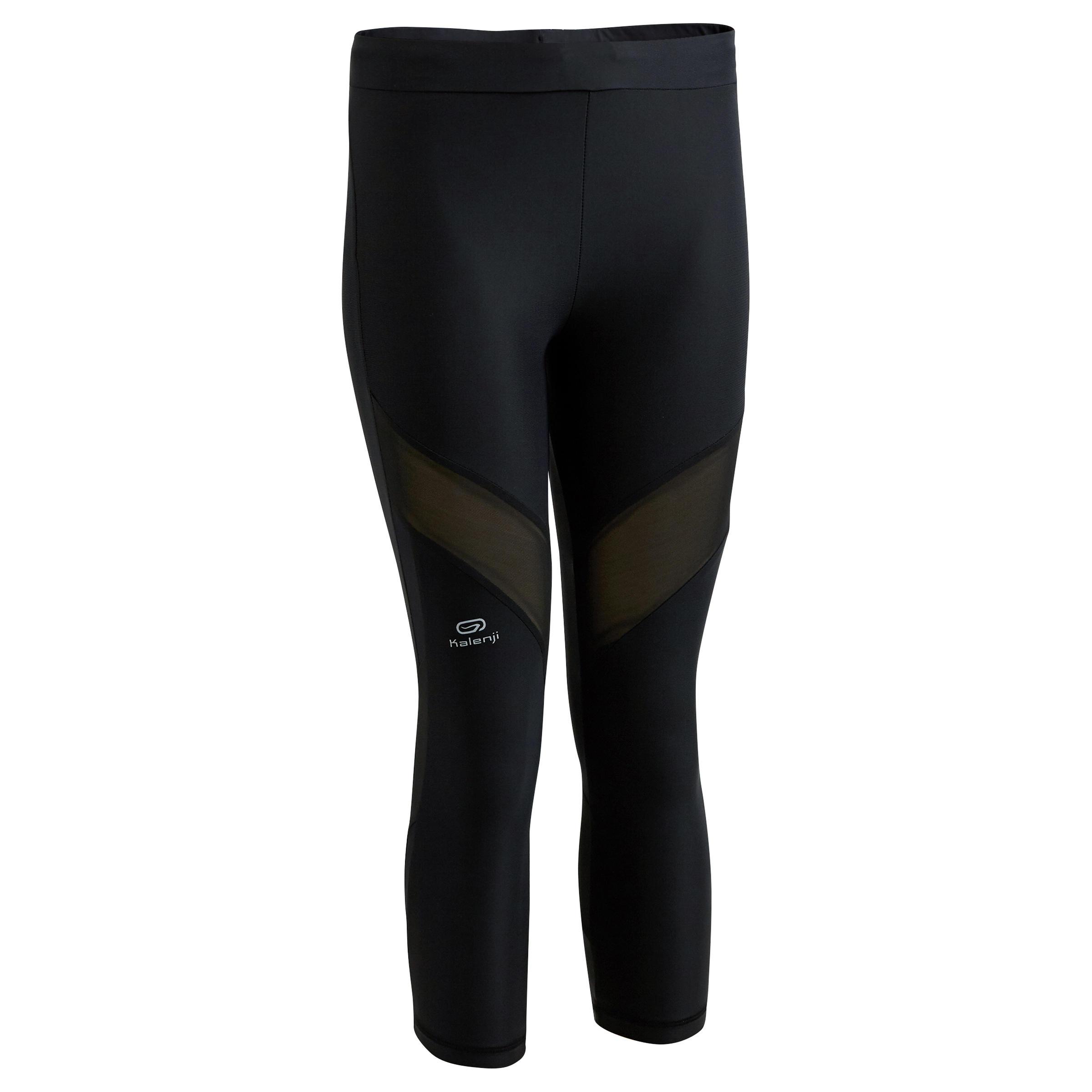 Kalenji Kiprun Support Women's Running Cropped Bottoms - Black