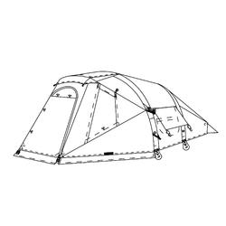Buitentent voor tent Air Seconds Family 4 Fresh