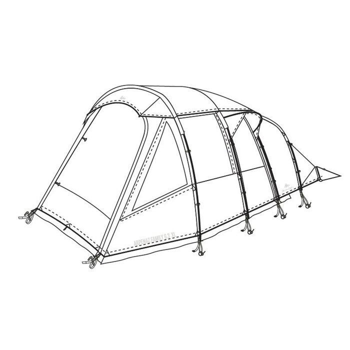 Buitentent voor tent Arpenaz Family 6.3 XL
