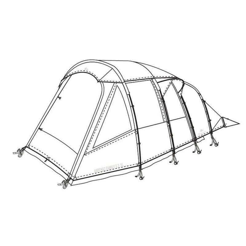PEZZI DI RICAMBIO TENDE NATURE HIKING Sport di Montagna - Doppio tetto tenda Arpenaz Family 6.3XL QUECHUA - Tende