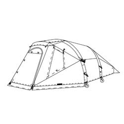 Buitentent voor tent Air Seconds Family 4