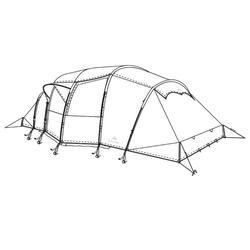 Buitentent voor Quechua-tent Arpenaz Family 8.4 XL