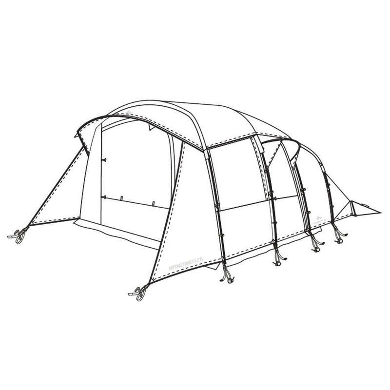 PEZZI DI RICAMBIO TENDE NATURE HIKING Sport di Montagna - Doppio tetto tenda Arpenaz Family 5.2XL QUECHUA - Tende